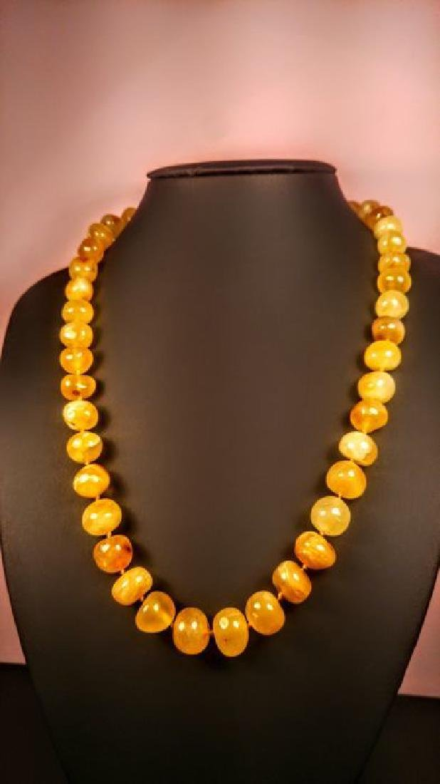 Baltic amber necklace, 100% Genuine - 2
