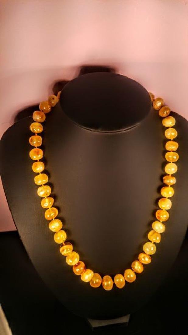 Baltic amber necklace, 100% Genuine - 3