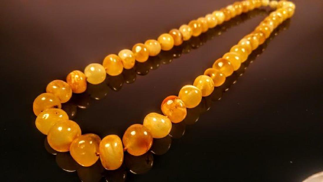Baltic amber necklace, 100% Genuine - 6