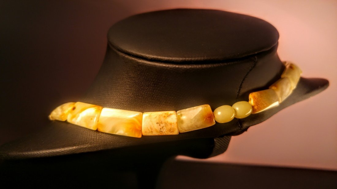100% Genuine  Royal colour Baltic amber necklace - 4