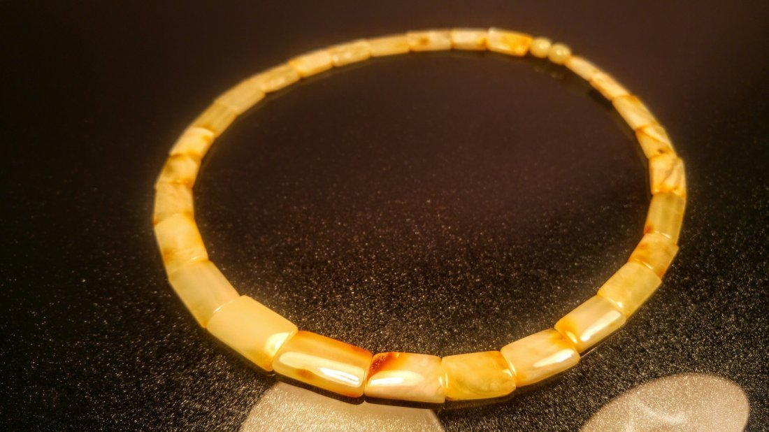 100% Genuine  Royal colour Baltic amber necklace - 5
