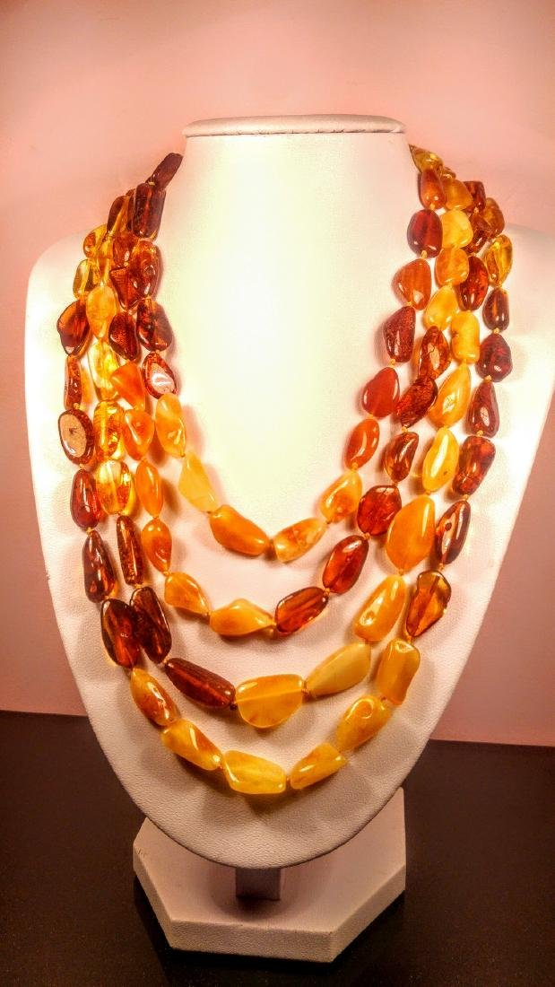 100% Genuine 200 cm long Baltic amber necklace