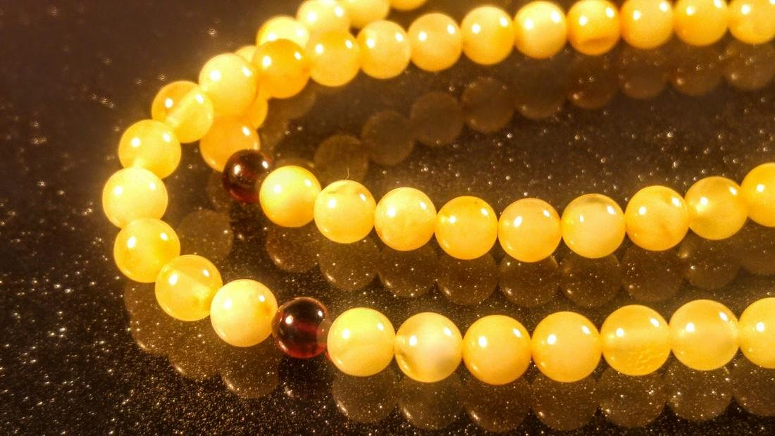 100% Genuine Baltic amber Japa mala Prayer- Bracelet- - 2
