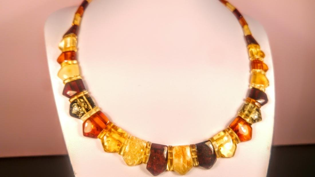 100% Genuine  Baltic amber necklace - 2
