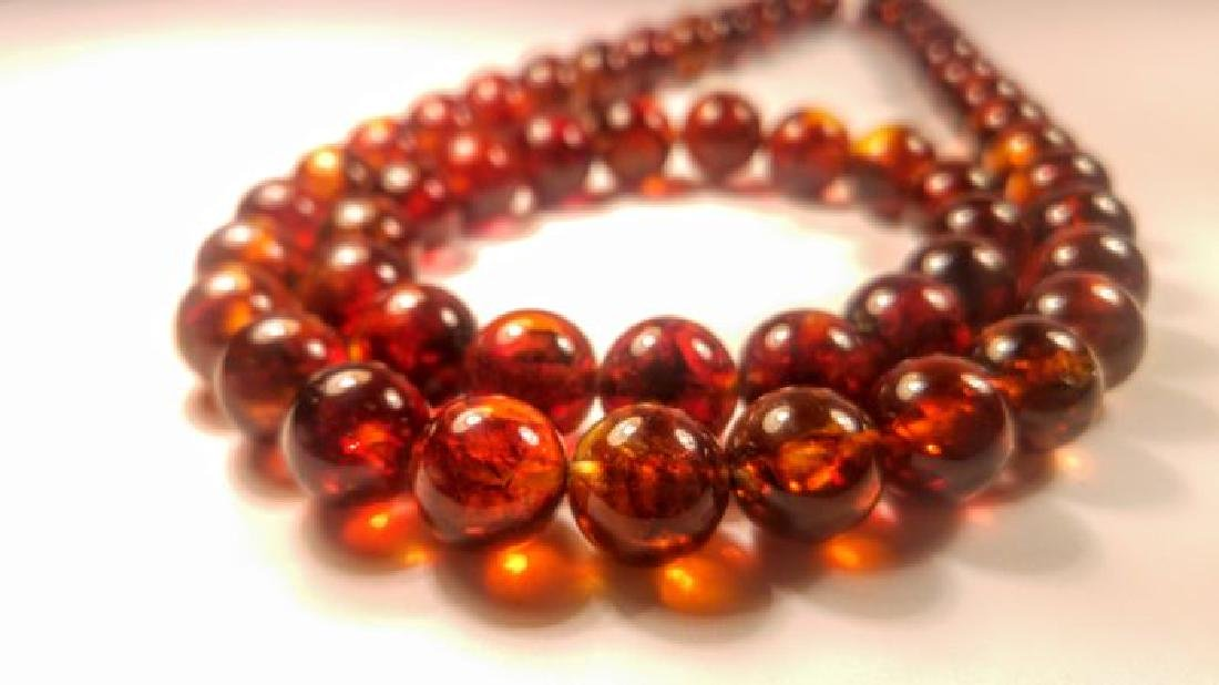 Baltic amber necklace and bracelet - 5
