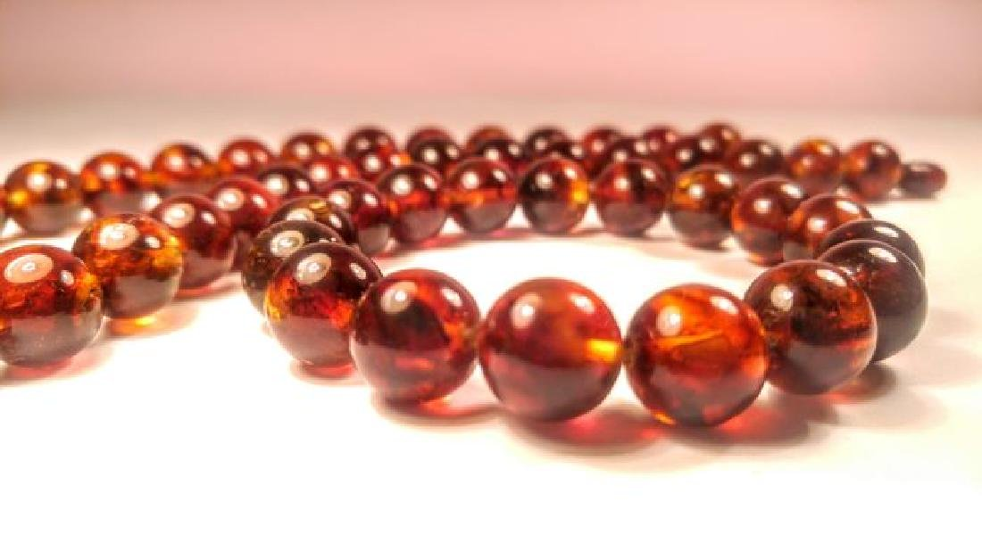 Baltic amber necklace and bracelet - 6