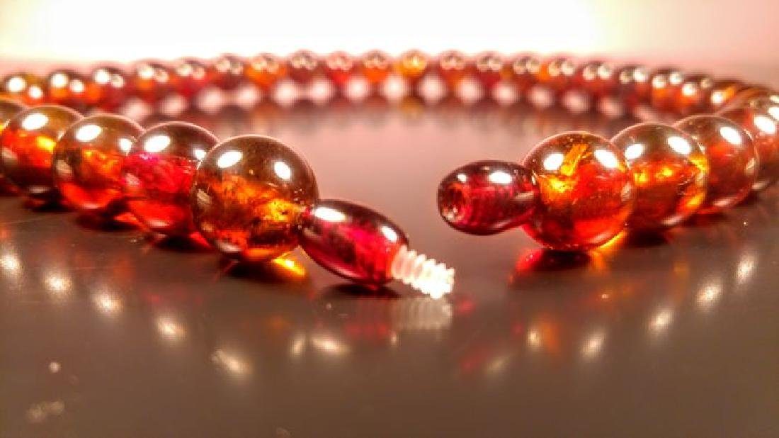 Baltic amber necklace and bracelet - 9