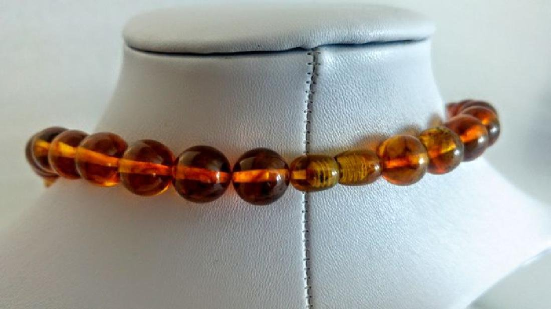 Baltic amber necklace with Pendant - 8