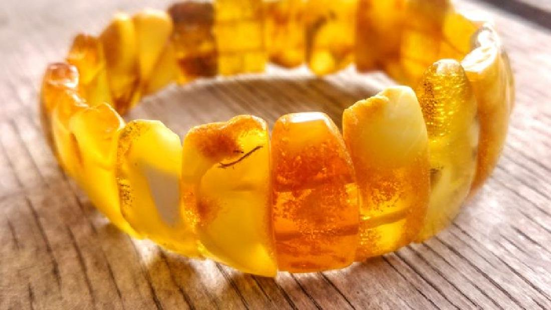 100% Genuine Baltic amber Royal landscape beautiful - 6