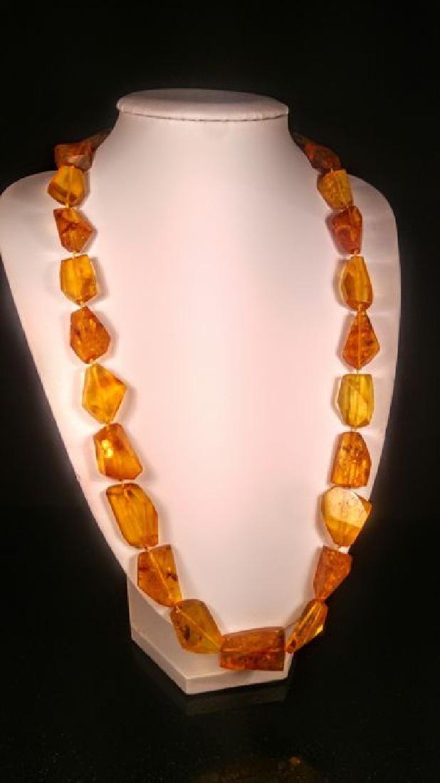 Vintage 100% natural Honey colour Baltic amber necklace