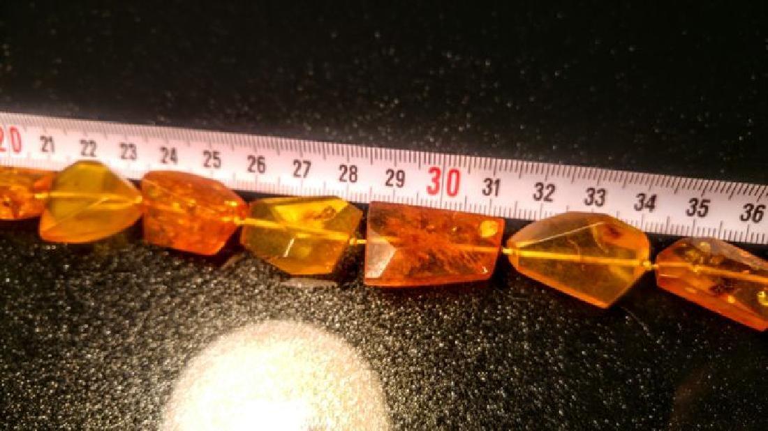 Vintage 100% natural Honey colour Baltic amber necklace - 4