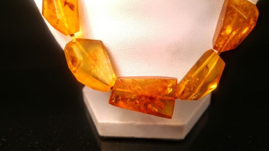 Vintage 100% natural Honey colour Baltic amber necklace - 5