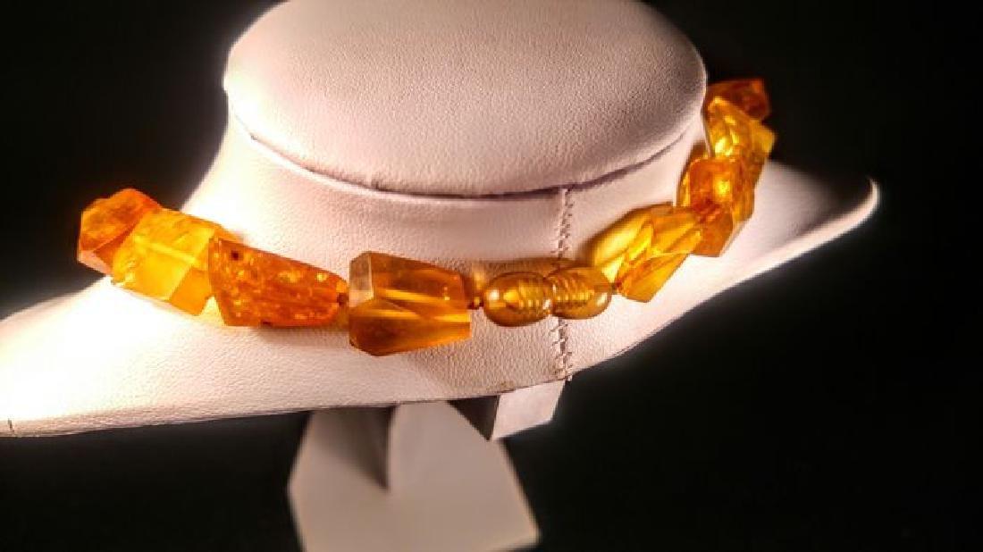 Vintage 100% natural Honey colour Baltic amber necklace - 7