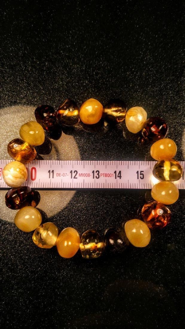 100% Genuine Baltic amber bracelet - 4