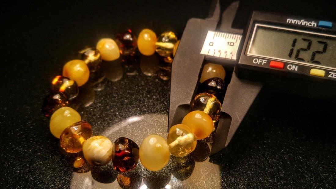 100% Genuine Baltic amber bracelet - 5