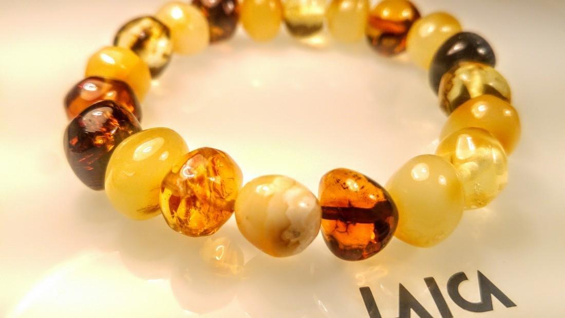 100% Genuine Baltic amber bracelet - 8