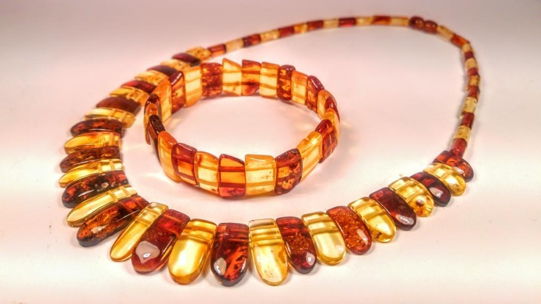 Set of bracelet and necklace, made of 100% genuine