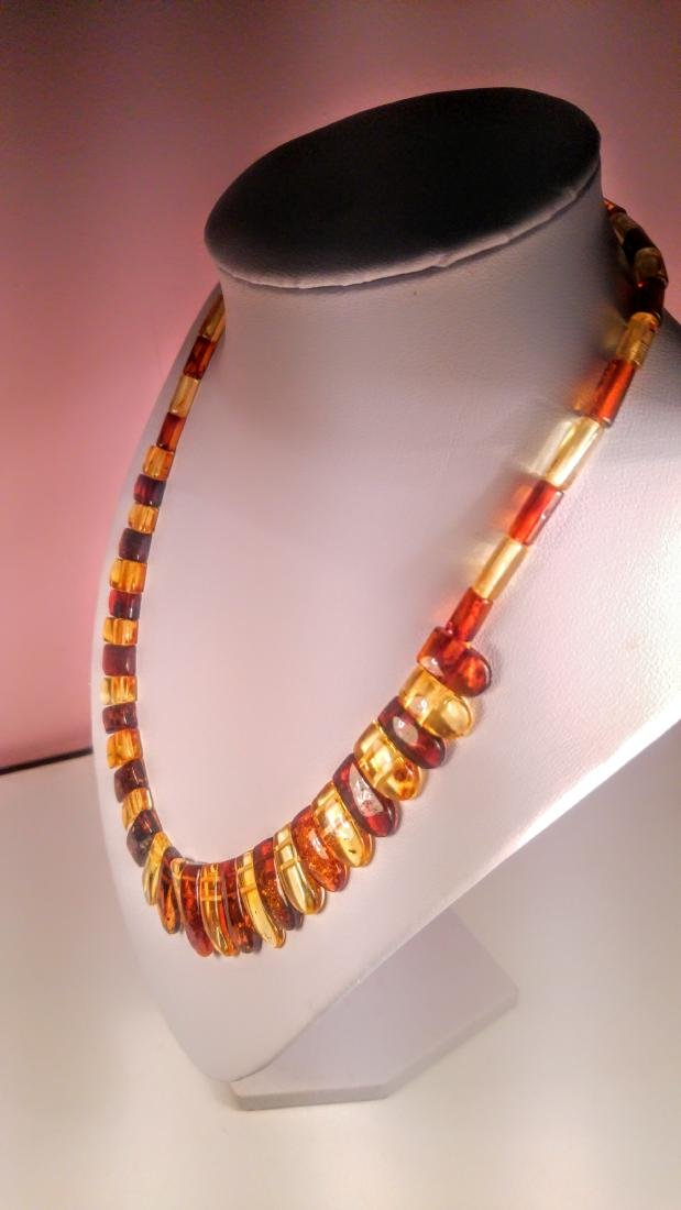 Set of bracelet and necklace, made of 100% genuine - 3