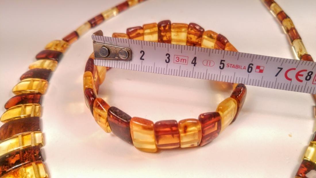 Set of bracelet and necklace, made of 100% genuine - 6