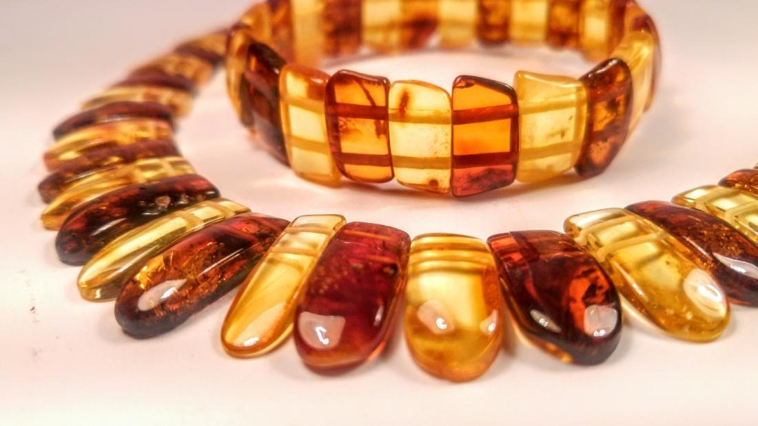 Set of bracelet and necklace, made of 100% genuine - 7