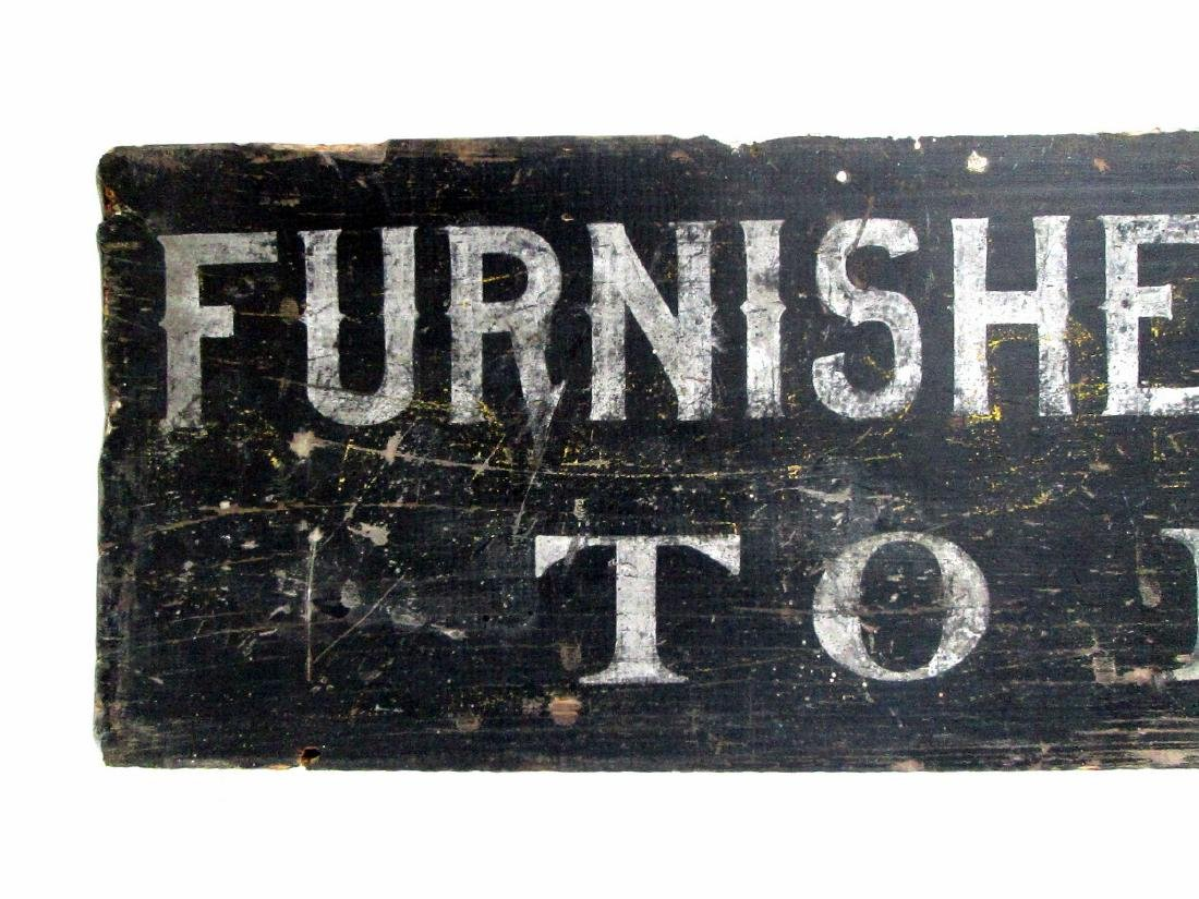 Furnished Rooms Trade Sign - 2