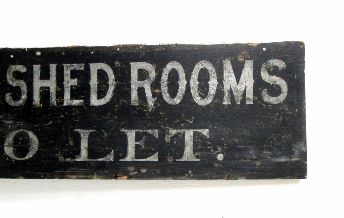 Furnished Rooms Trade Sign - 3