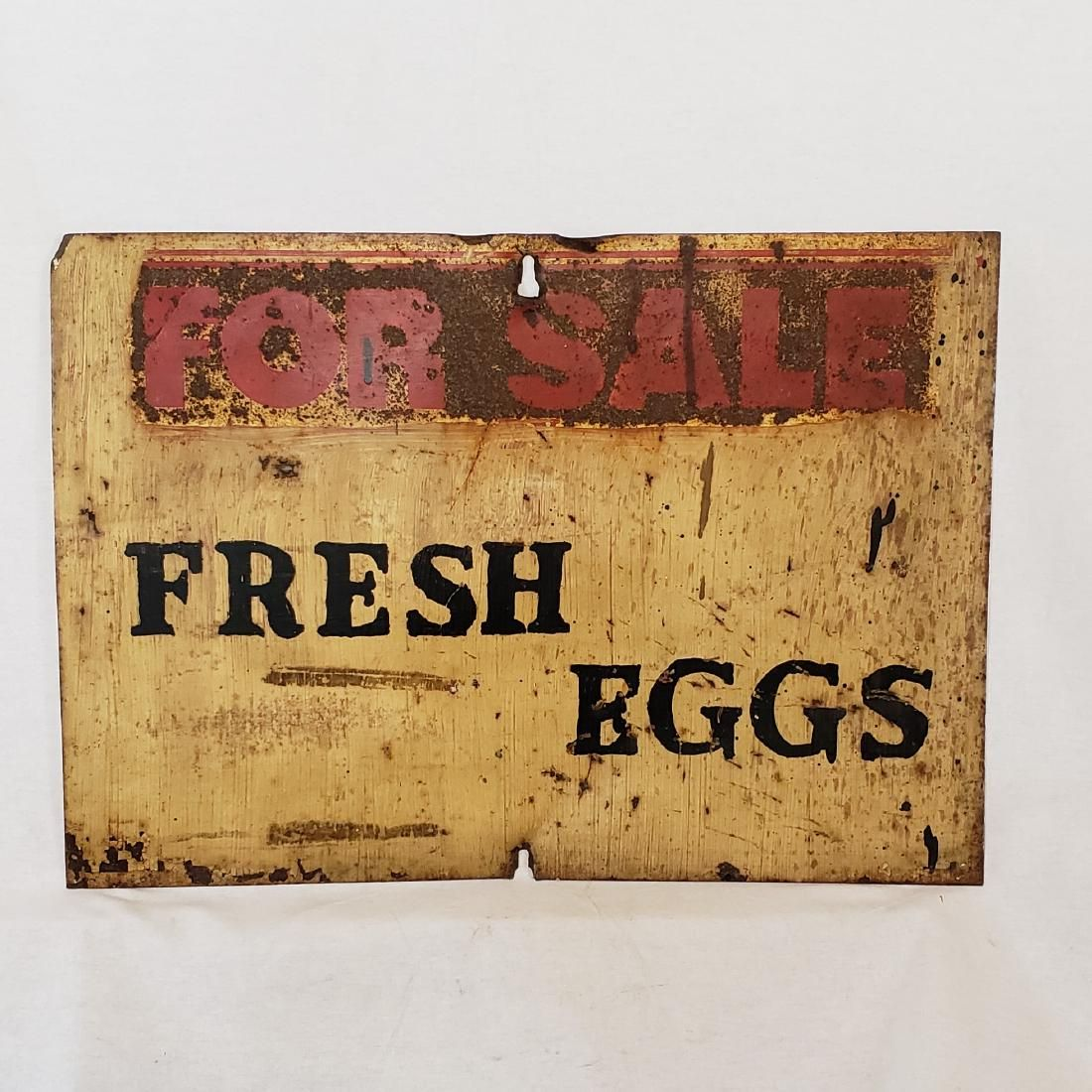Fresh eggs for sale sign ca 1930's