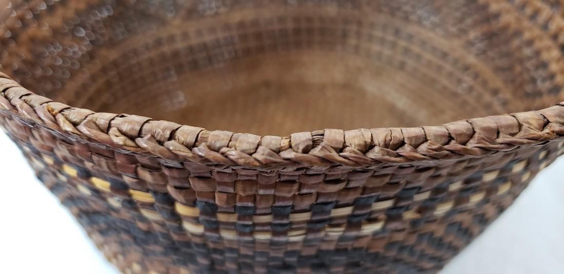 Woven cedar bark Northwest coast Indian basket ca 1900 - 5
