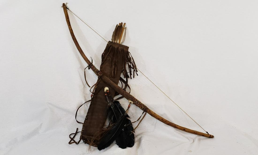 Native American crafts revival bow and quiver ca
