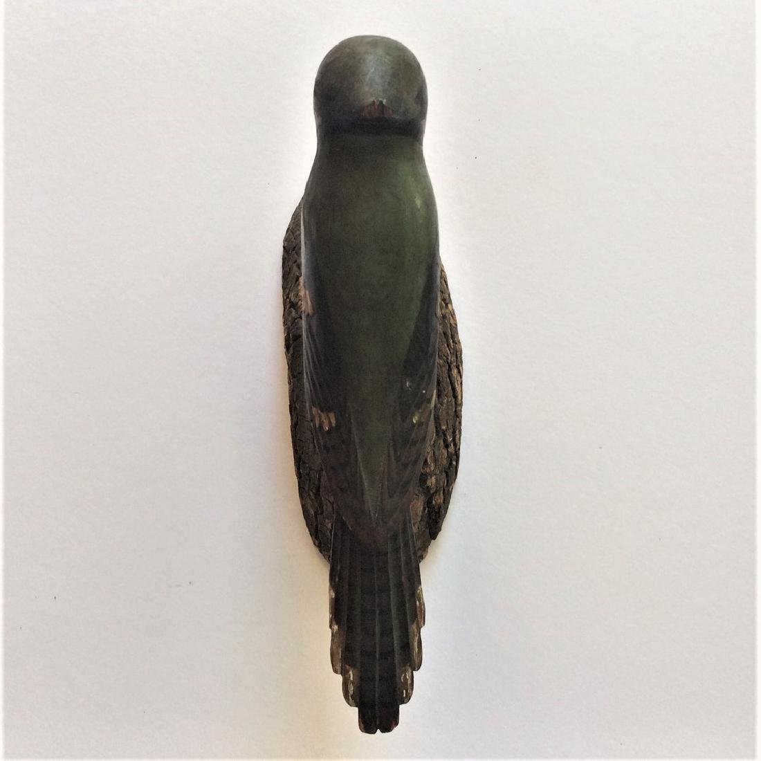 Early 20th Century Carved Wooden Blue Jay Bird - 5