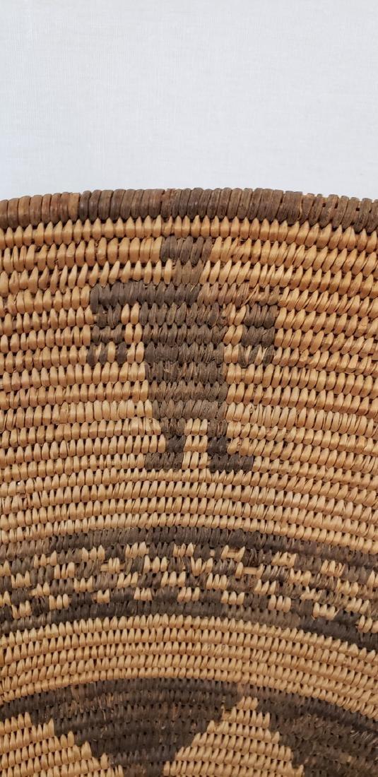 Exceptional large Apache figural basket ca 1900. - 3