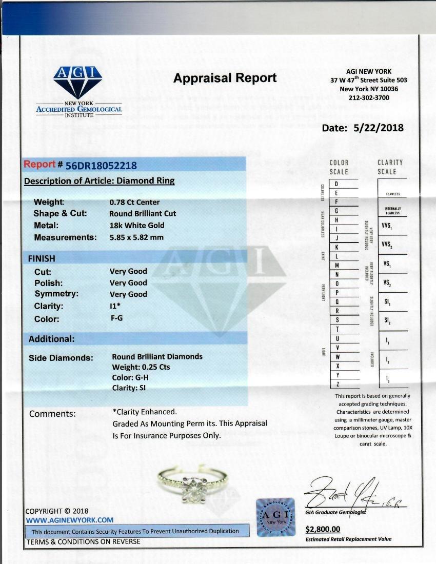 Sparkling 1.03 TCW round cut diamond pave engagement - 2