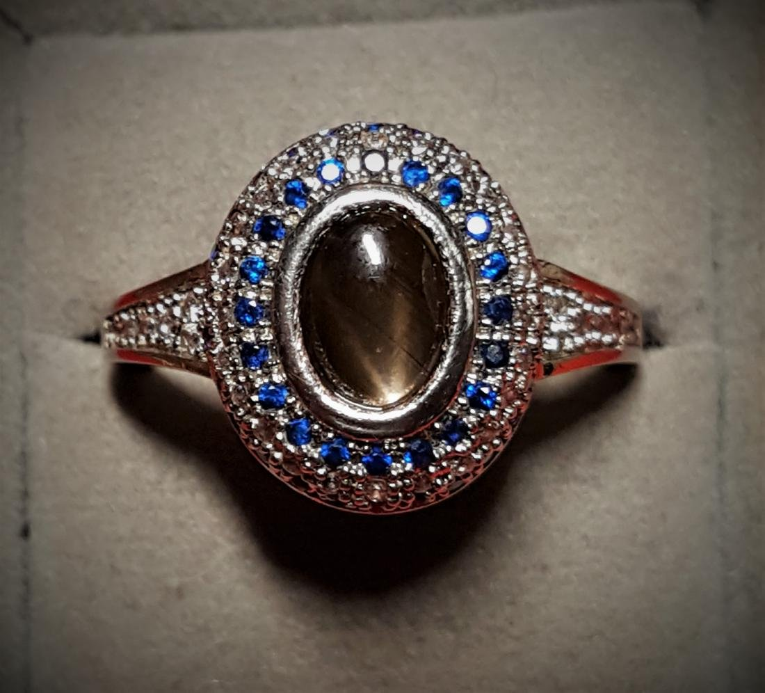 Blk Star Sapphire Cocktail Ring