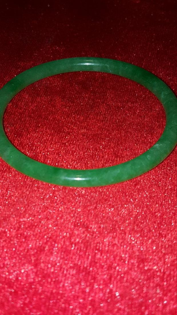 Green Jade Bangle - 2