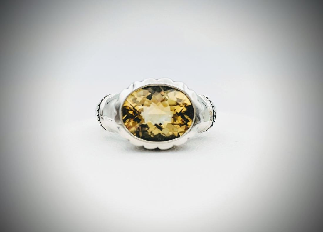 Sterling Silver Sz 7 Golden Citrine Ring