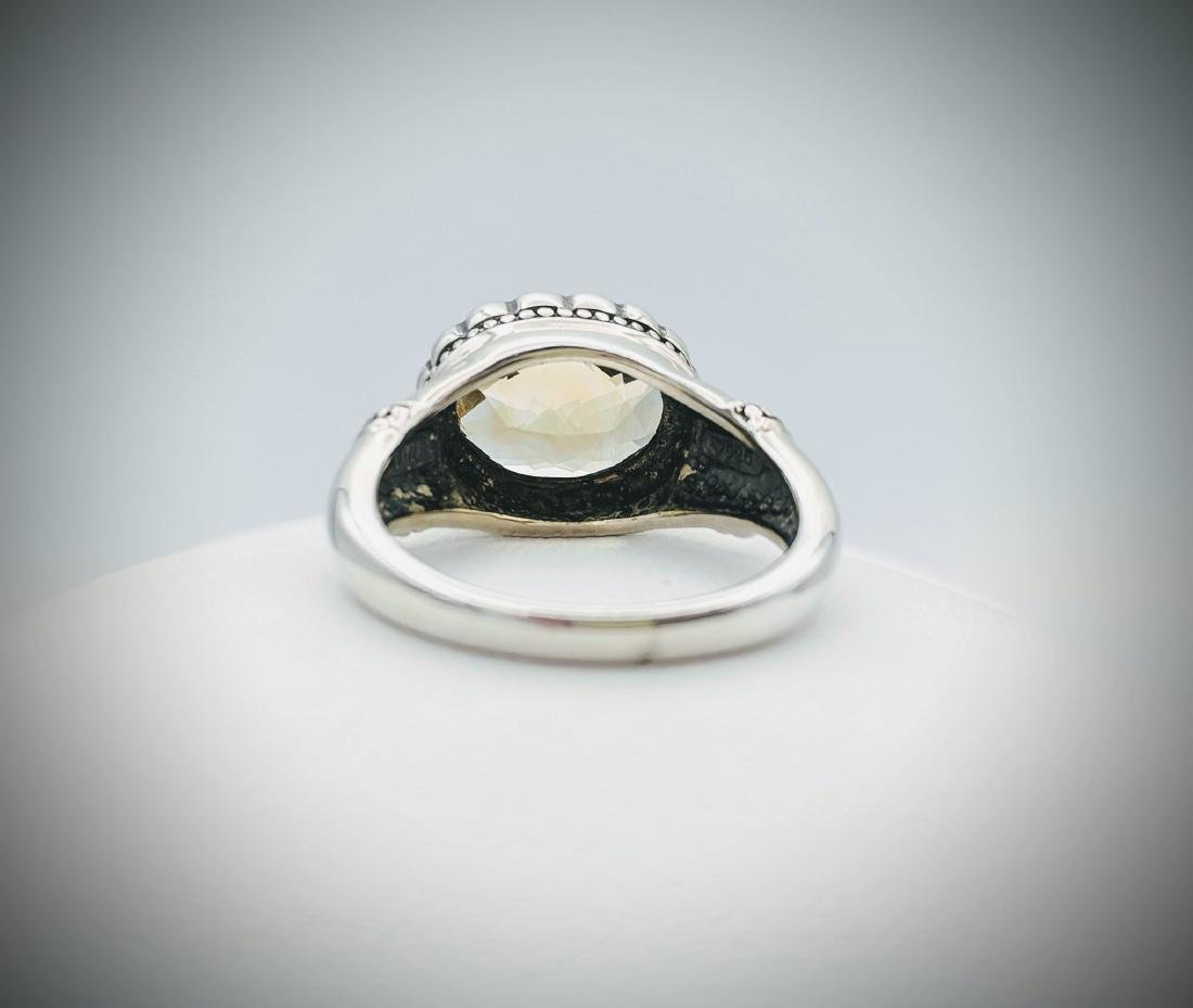 Sterling Silver Sz 7 Golden Citrine Ring - 2
