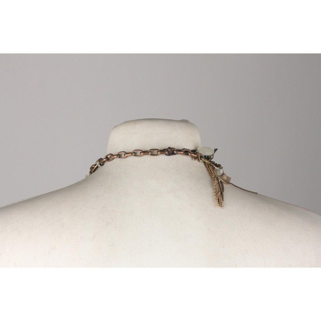 PELLINI MILANO Asymmetric Multi Strands Necklace Blue - 4