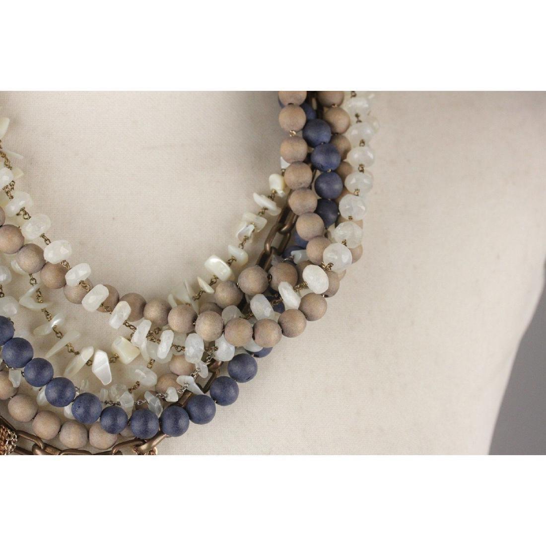 PELLINI MILANO Asymmetric Multi Strands Necklace Blue - 6