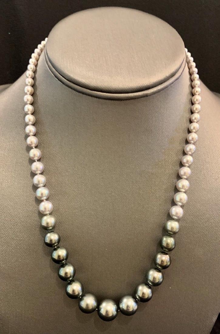 CERTIFIED $4,950 Graduated Black Tahitian Pearl 11.32 - 2