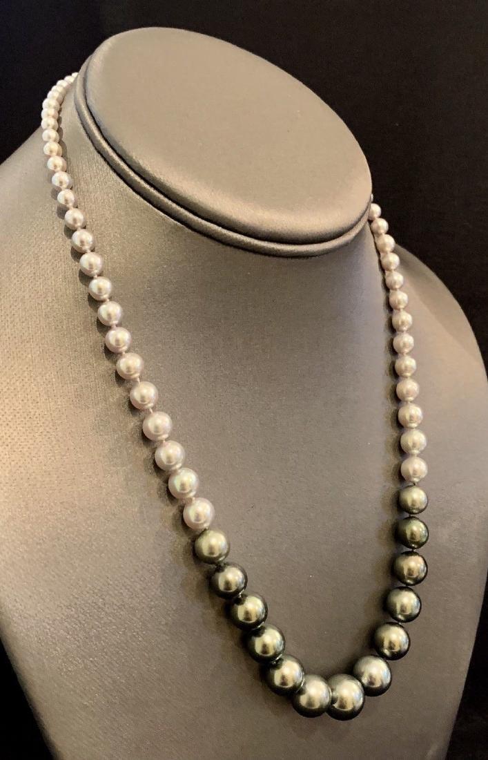 CERTIFIED $4,950 Graduated Black Tahitian Pearl 11.32 - 3