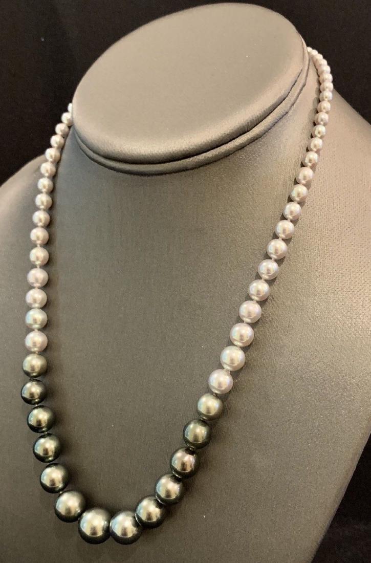 CERTIFIED $4,950 Graduated Black Tahitian Pearl 11.32 - 4