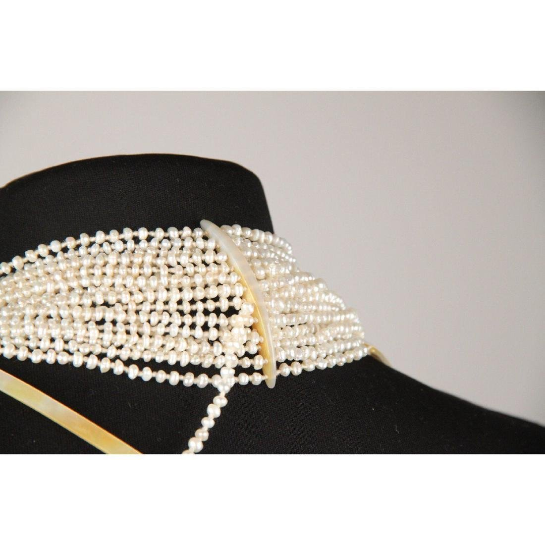 Multistrand Small Baroque Pearls and Mother of Pearl - 3