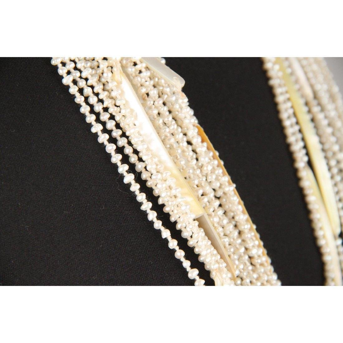 Multistrand Small Baroque Pearls and Mother of Pearl - 4