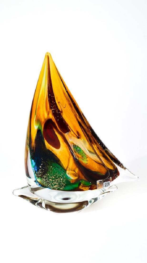 MURANO GLASS SAILBOAT CALCEDONIO - 3