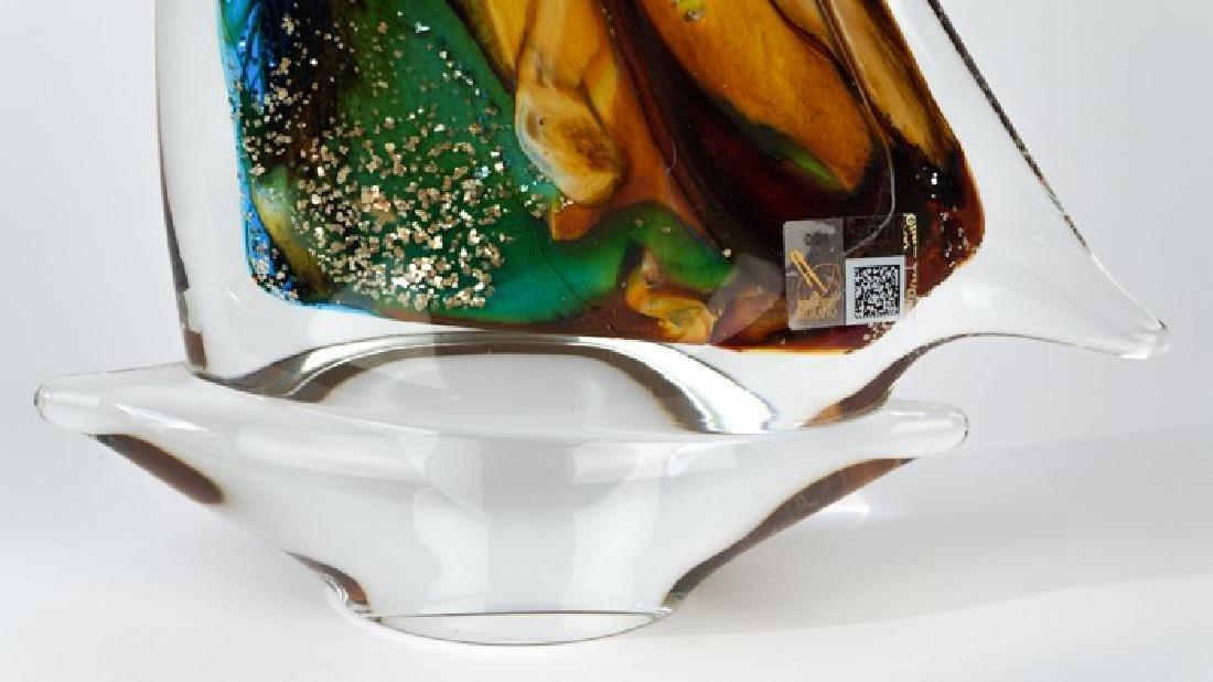 MURANO GLASS SAILBOAT CALCEDONIO - 4