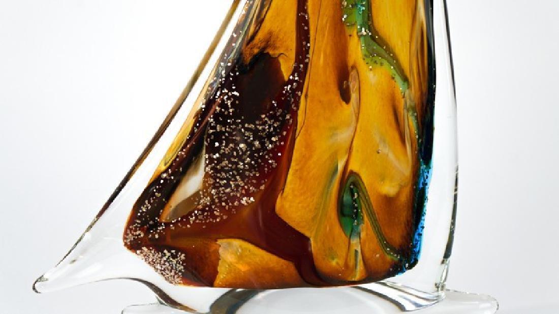 MURANO GLASS SAILBOAT CALCEDONIO - 8