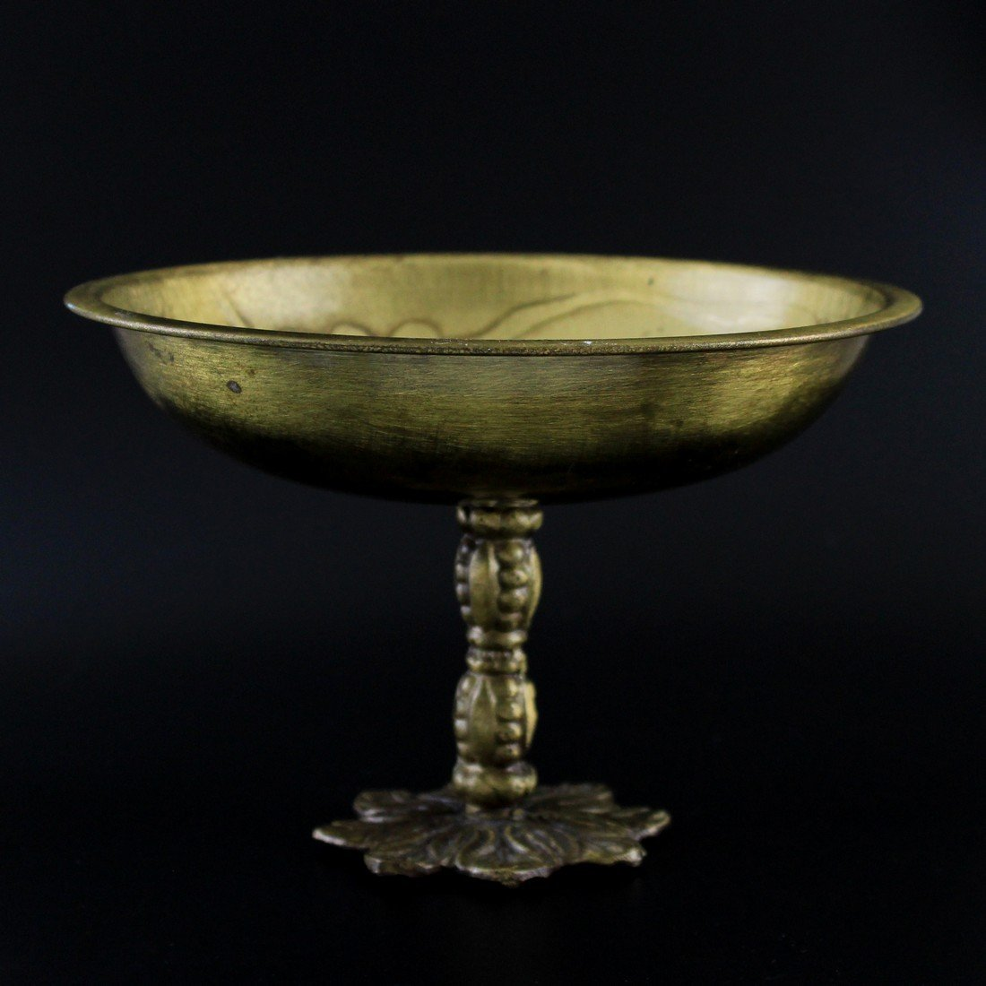 Vintage Brass Moroccan Styled Compote