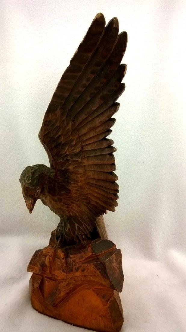 Wooden figure of an eagle - Beautiful handmade from - 7