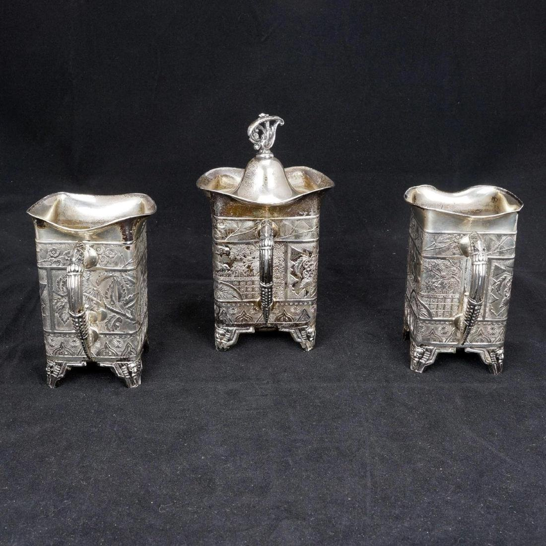 Victorian Aesthetic Movement Silver Plate Tea Set by - 2