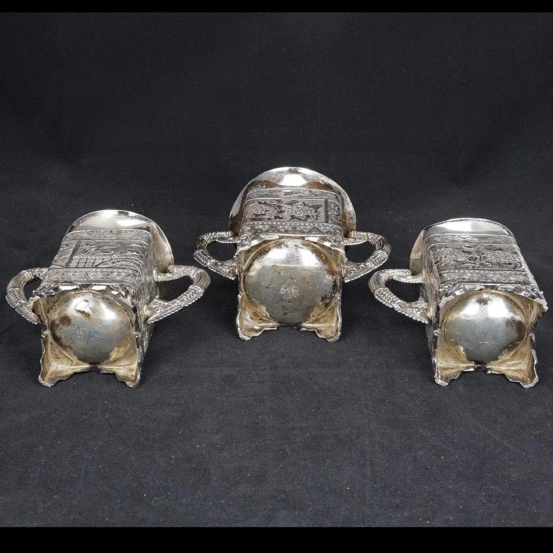 Victorian Aesthetic Movement Silver Plate Tea Set by - 4